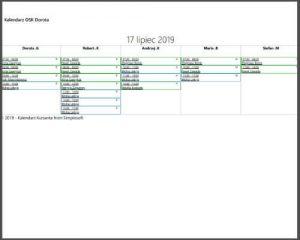 opcja krukuj kalendarz